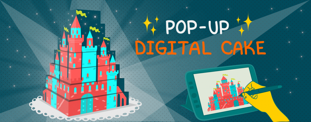 Pop-UP Digital Cake
